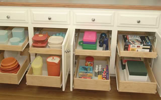 Custom Kitchen Shelving and Drawers
