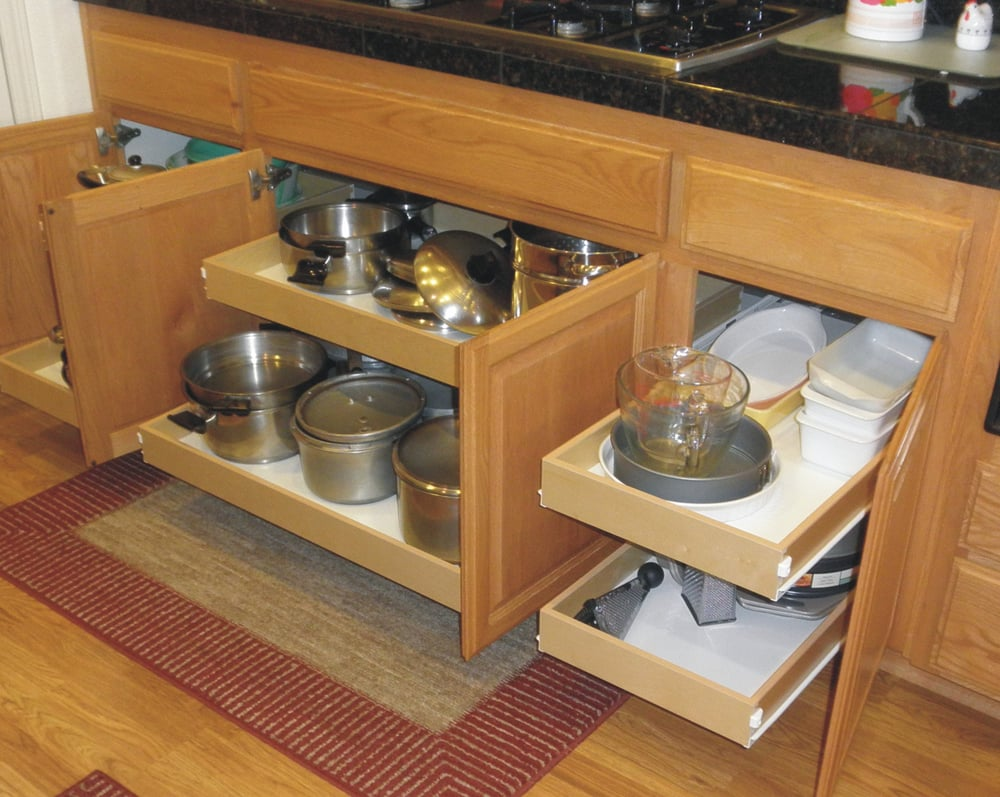 Kitchen Drawers Rolling Shelves Custom Shelving Roll