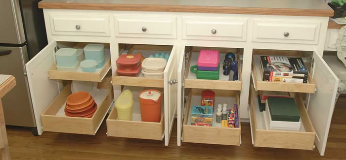 Roll Out Shelves and Drawers For Kitchens
