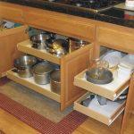 Rolling Kitchen Shelves