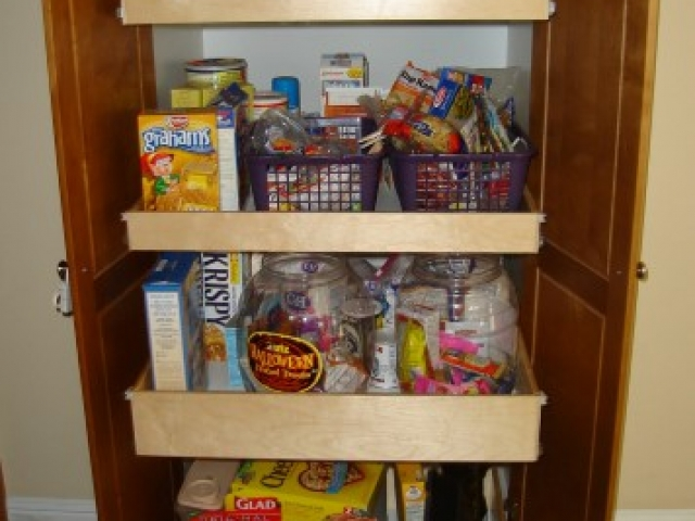 Custom Roll Out Shelving For Pantry