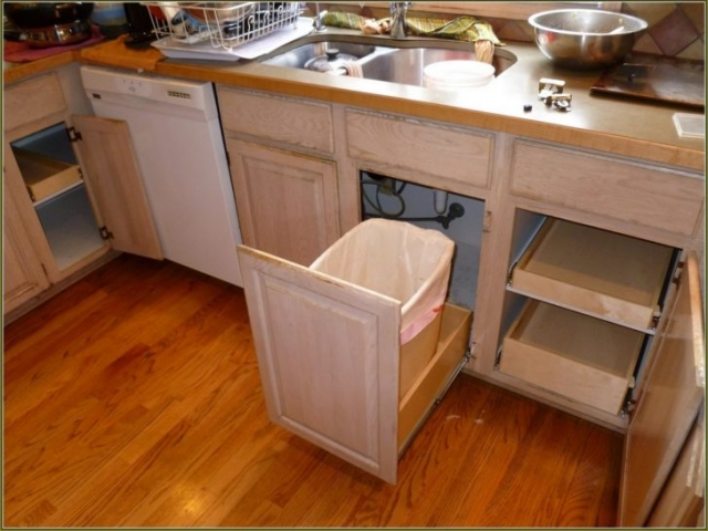 Roll Out Trash Can Shelving